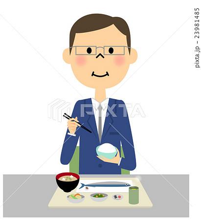 ご飯を食べるビジネスマン 23981485
