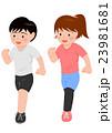 ジョギング ランニング 男女 23981681