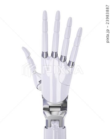 White Robotic Human-Like Hand 3d Illustrationのイラスト素材 [23983887] - PIXTA