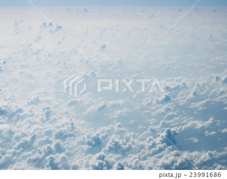 Cloudscape, white cloud on the sky 23991686