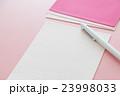 便箋と封筒 手紙 ピンクバック 23998033