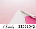 便箋と封筒 手紙 ピンクバック 23998042