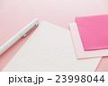 便箋と封筒 手紙 ピンクバック 23998044