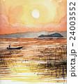 琵琶湖夕景のスケッチ 24003552