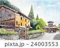 白山白峰地区のスケッチ画 24003553