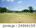 真夏のゲートボールの練習風景 24004159