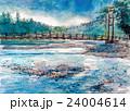 上高地の大正池スケッチ 24004614