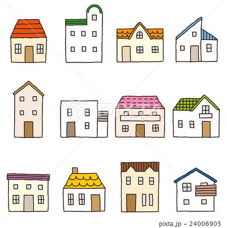 かわいい家 セットのイラスト素材 24006905 Pixta