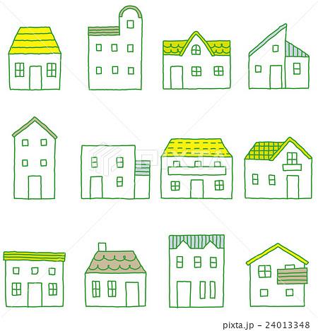 かわいい家 セットのイラスト素材 24013348 Pixta