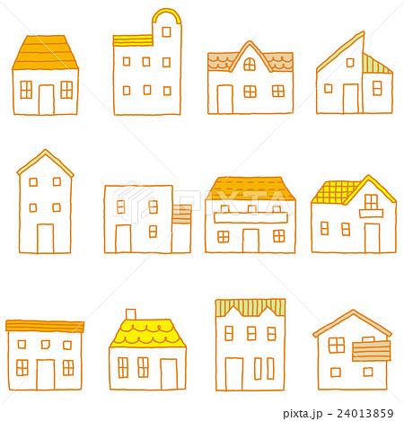 かわいい家 セットのイラスト素材 24013859 Pixta
