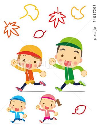 スポーツの秋 楽しくジョギングのイラスト素材 24017293 Pixta