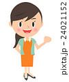 ガッツポーズ 女性 人物のイラスト 24021152