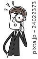 喪服を着た男性:虫眼鏡 24022373