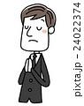 喪服を着た男性:合掌 24022374