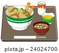 丼物 昼食 セットのイラスト 24024700