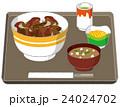 丼物 昼食 セットのイラスト 24024702