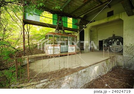 ロープウェーの廃駅の写真素材 [...