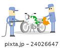 バイクの洗車 24026647