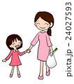 買い物 親子 娘のイラスト 24027593