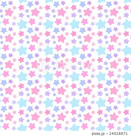 かわいいカラフルポップな星のシームレス連続繋がるパターン