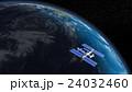 地球とISS (宇宙ステーション)3DCG perming3DCG160815_01 イラスト素材 24032460
