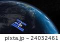 地球とISS (宇宙ステーション)3DCG perming3DCG160815_02 イラスト素材 24032461