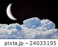 月 雲 ナイトの写真 24033195