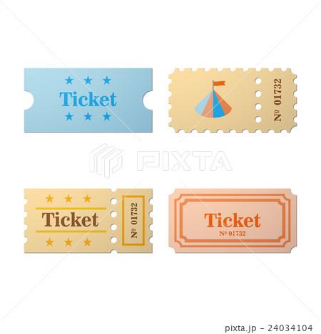 Ticket set iconのイラスト素材 [24034104] - PIXTA