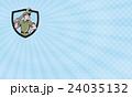 Mechanic Wielding Spanner Business card 24035132