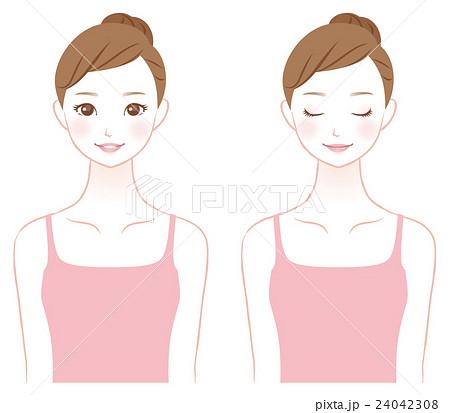 若い女性 美容 スキンケア 24042308