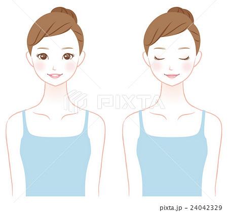 若い女性 美容 スキンケア 24042329