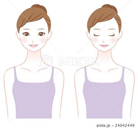 若い女性 美容 スキンケア 24042449