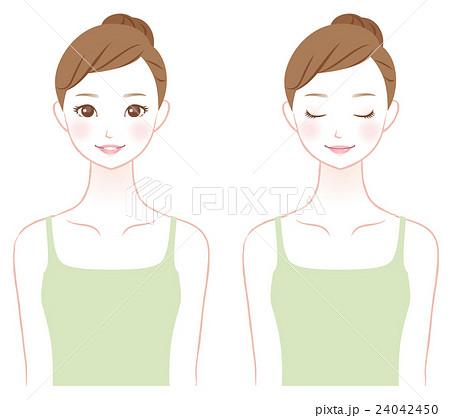 若い女性 美容 スキンケア 24042450
