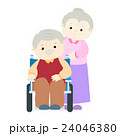 Senior man patient sitting on wheelchair vector 24046380