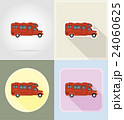 car van caravan camper mobile home flat icons  24060625