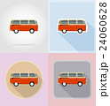 retro minivan flat icons vector illustration 24060628