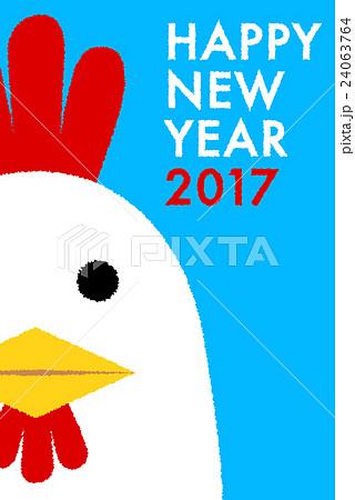 年賀状2017 にわとりのイラスト素材 24063764 Pixta