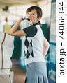 Japanese woman golfer , housewife 24068344