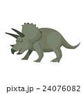 恐竜 トリケラトプス イラスト 24076082