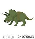 恐竜 トリケラトプス イラスト 24076083