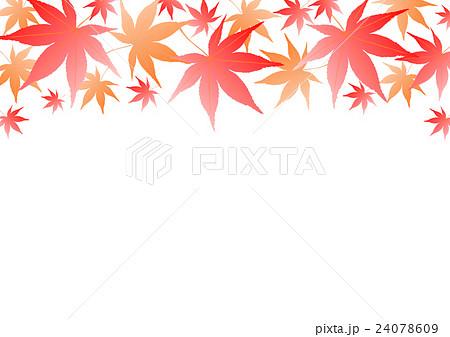 秋 紅葉 イラスト フレーム のイラスト素材 24078609 Pixta