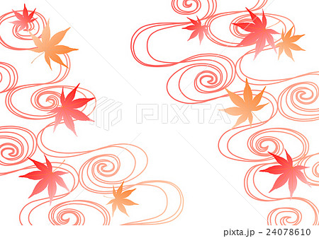 流水 紅葉 背景 イラスト グラデーションのイラスト素材 24078610 Pixta