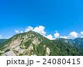 夏 中部山岳国立公園 山岳の写真 24080415