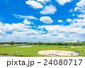 爽やかな夏空と草野球 24080717