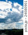 雨雲 ゲリラ豪雨 豪雨の写真 24080901