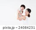 母子 赤ちゃん 母親の写真 24084231