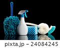 掃除道具 黒背景 24084245