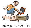 AED おばさん おじいさんのイラスト 24091318