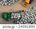 ゴミ収集業者 ミニチュア人形 24091895