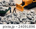 ゴミ収集業者 ミニチュア人形 24091896
